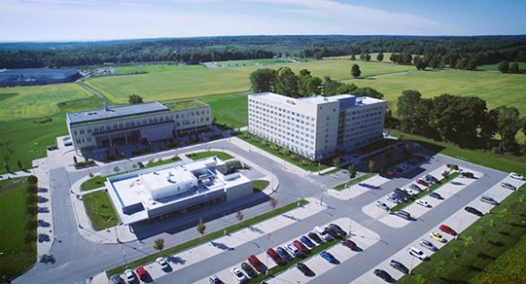 Aerial view of the Orillia campus