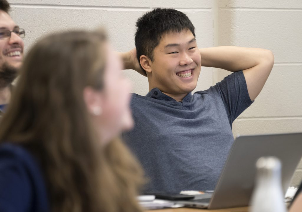 Jacky Wu in class