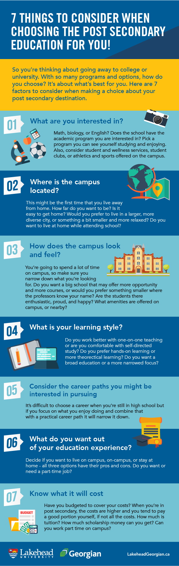 7 Things to Consider When Choosing a Post Secondary Education