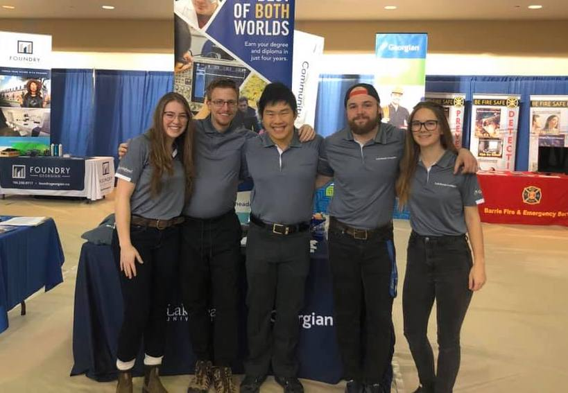 Five students at Georgian College Open House