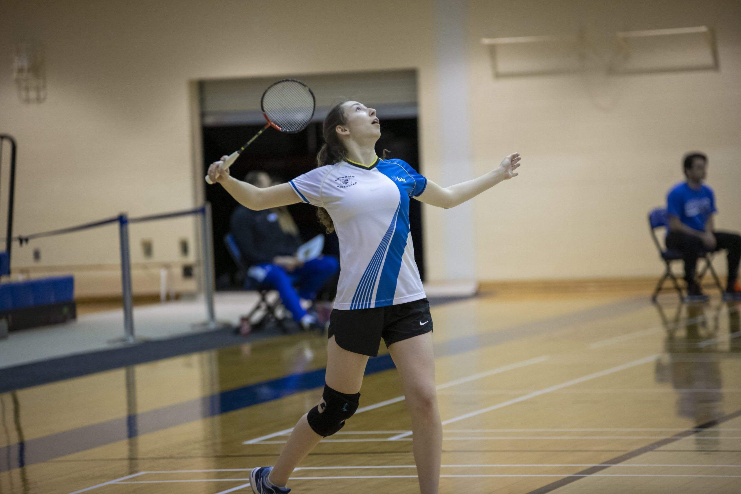 Jessica Maher playing badminton